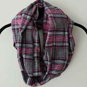 EUC plaid infinity scarf